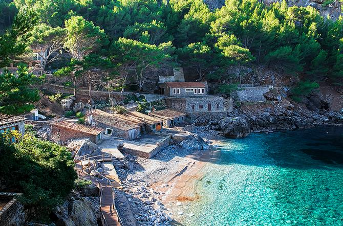 This small and beautiful cove can be reached through the Serra de Tramontana, one of the most spectacular routes in Spain